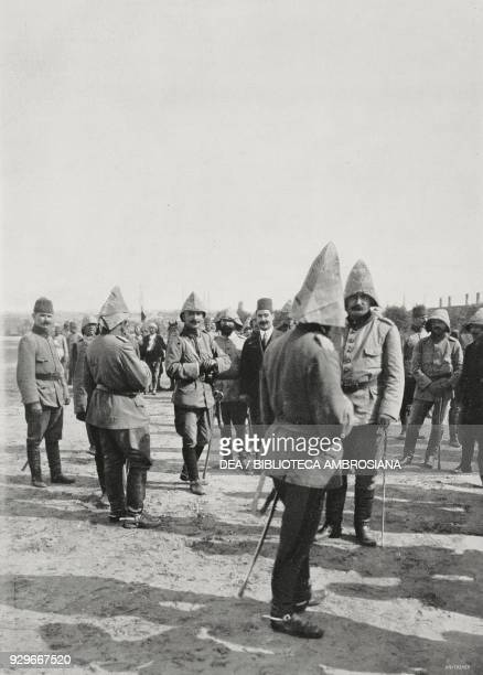 Enver Bey in Adrianople after being recaptured by Turkish troops Turkey Second Balkan War photograph by Maurizio Galli from L'Illustrazione Italiana...