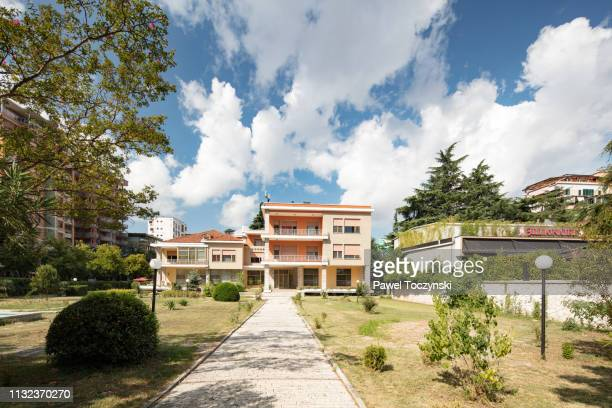 enver hoxha's (the albanian communist dictator) former house in central tirana, albania, 2018 - socialism stock pictures, royalty-free photos & images