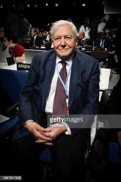 Enviornmental activist and TV personality David Attenborough is seen at the opening of the Climate Change Conference COP24 in Katowice Poland on...