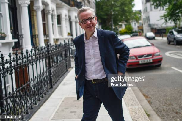 Environment Food and Rural Affairs Minister Michael Gove arrives at his home on May 26 2019 in London England Mr Gove announced that he is to stand...