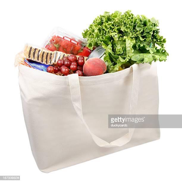 Environnement chaleureux sac d'achat de denrées alimentaires