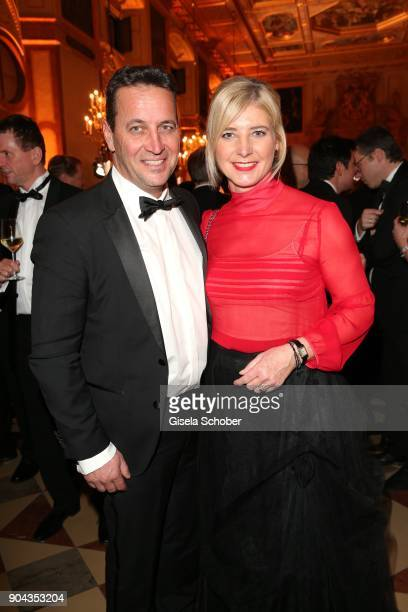 Environment minister Ulrike Scharf and her husband Dr Florian Gamper during the new year reception of the Bavarian state government at Residenz on...