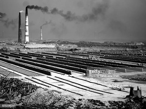 environment pollution in brick field - savar stock pictures, royalty-free photos & images