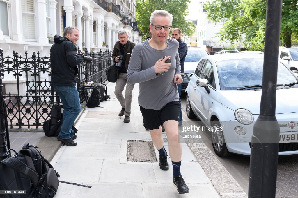 Conservative Party Leadership Candidate Leaves His Home : News Photo