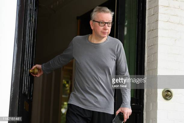 Environment Secretary Michael Gove leaves his home on May 28 2019 in London England Gove has recently announced his bid to become the next...