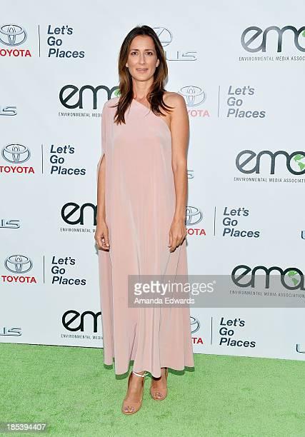 Environmental activist Anna Getty arrives at the 2013 Environmental Media Awards at Warner Bros Studios on October 19 2013 in Burbank California