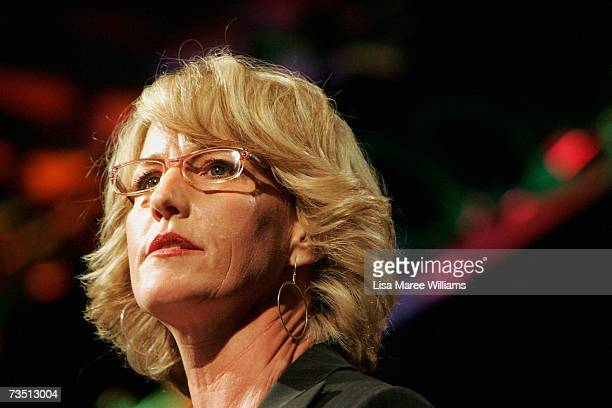 Environmental activist Erin Brockovich attends the Climate Change Coalition dinner in support of candidate Patrice Newell ahead of the State Election...