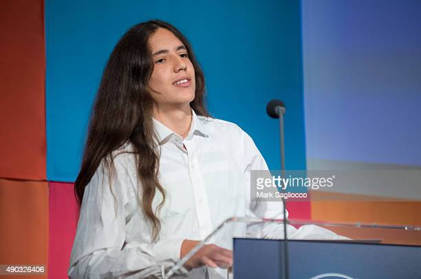 Environmental Activist Xiuhtezcatl Roske-Martinez attends the Social Good Summit at the 92nd Street Y on September 27, 2015 in New York City.