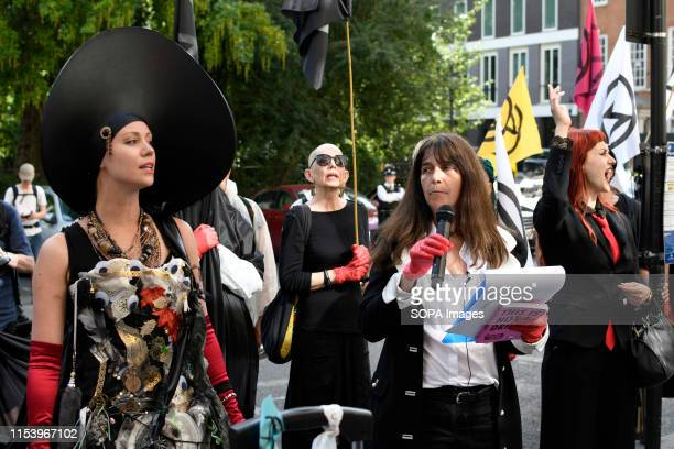 S SQUARE LONDON GREATER LONDON UNITED KINGDOM Environmental activists stand outside a British Petroleum Headquarters during a protest in London...