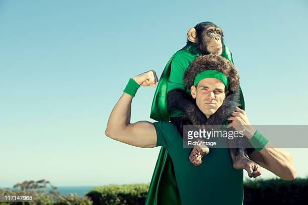 environmental champions - monkey man stock pictures, royalty-free photos & images