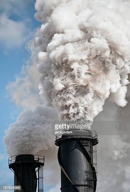 environmental damage: air pollution - carbon dioxide stock pictures, royalty-free photos & images