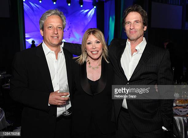 Environmental Media Association President Debbie Levin actor Hart Bochner and guest attend the 20th Annual Environmental Media Awards After Party at...