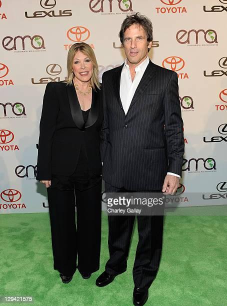 Environmental Media Association President Debbie Levin and actor Hart Bochner arrive at the 20th Annual Environmental Media Awards held at Warner...