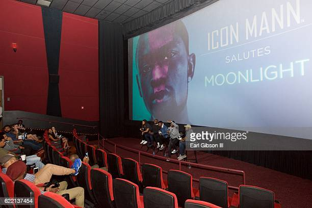 Environmental photo from the ICON MANN Host Special Screening And QA of Moonlight at AMC Century City 15 theater on November 9 2016 in Century City...