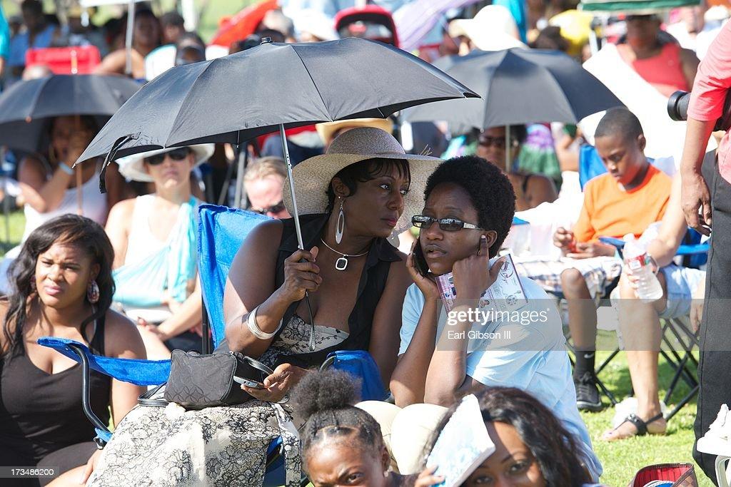 Environmental Photos of the Long Beach Gospel Fest at Marina Green Park on July 14, 2013 in Long Beach, California.