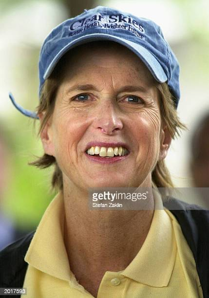 Environmental Protection Agency Administrator Christie Whitman attends a press conference April 21, 2003 in Washington, DC. Whitman announced plans...