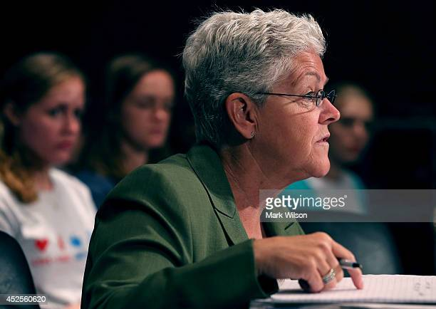 S Environmental Protection Agency Administrator Gina McCarthy testifies before the Senate Environment and Public Works Committee on Capitol Hill July...