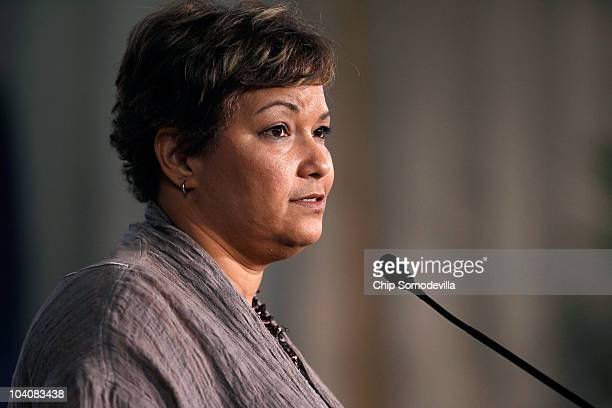 Environmental Protection Agency Administrator Lisa Jackson delivers the keynote address during the 40th anniversary of the Clean Air Act conference...