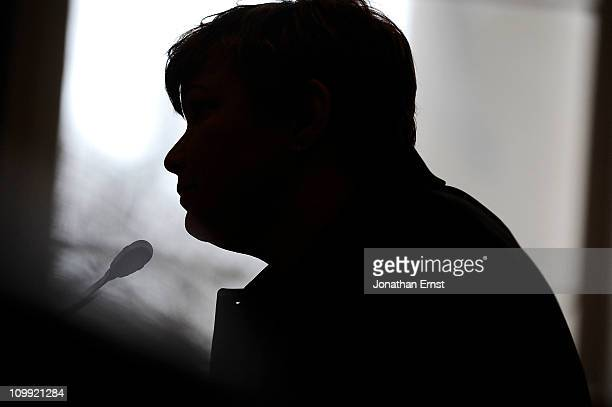 S Environmental Protection Agency Administrator Lisa Jackson is silhouetted in a window as she testifies about the impact of EPA regulation on...