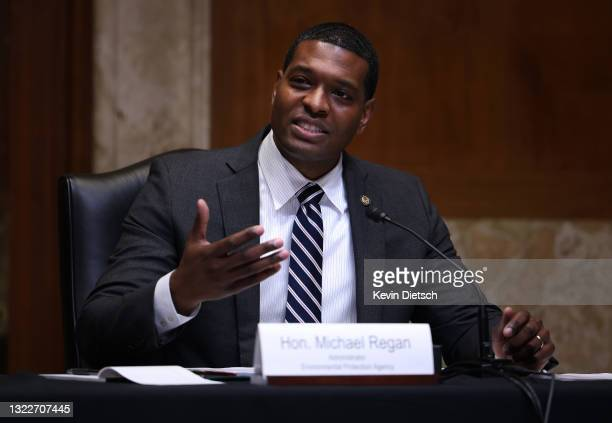 Environmental Protection Agency Administrator Michael Regan testifies on the EPA fiscal year 2022 budget request during a Senate Appropriations...