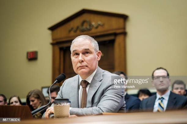 Environmental Protection Agency Administrator Scott Pruitt testifies before the House Energy and Commerce Committee about the mission of the US...