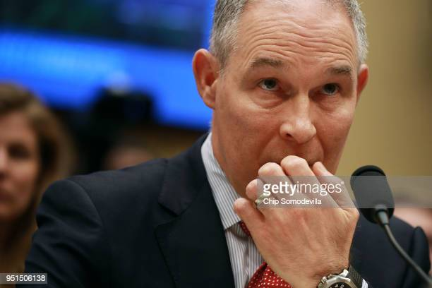 Environmental Protection Agency Administrator Scott Pruitt testifies before the House Energy and Commerce Committee's Environment Subcommittee in the...