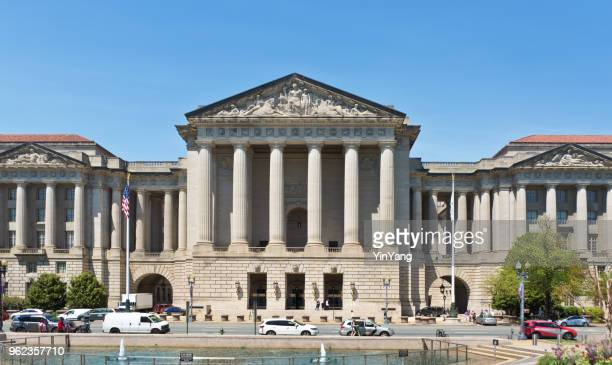 environmental protection agency epa building in washington dc - environmental protection agency stock photos and pictures