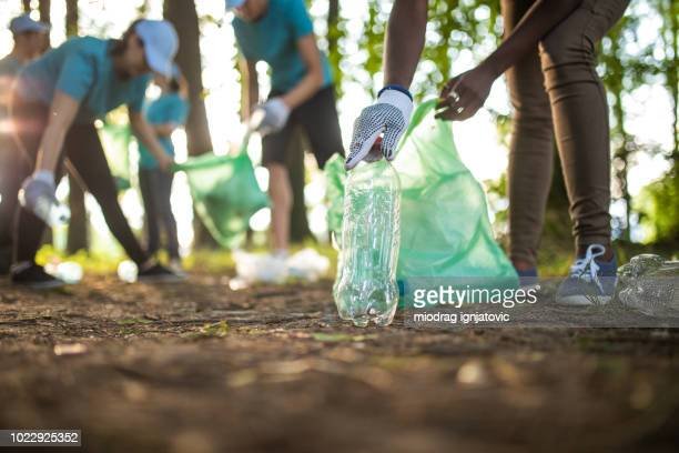environmental volunteers - recycling stock pictures, royalty-free photos & images