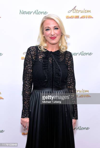 """Environmentalist Alycia Gilde Egan attends the premiere of the film """"Never Alone"""" at Arena Cinelounge on October 04, 2019 in Hollywood, California."""