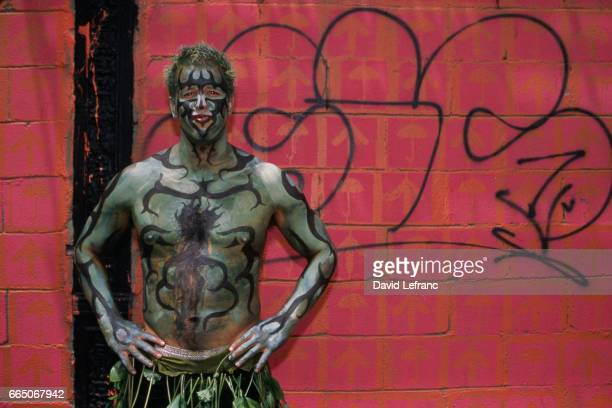 Environmentalist at the Earth Celebration in the East Village an annual parade to protect the environment and preserve community gardens Photos and...