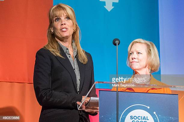 Environmentalist Laura Turner Seydel and United Nations Foundation CEO Kathy Calvin attend the Social Good Summit at the 92nd Street Y on September...