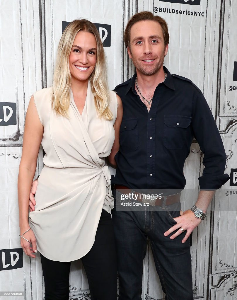Environmentalists Ashlan Cousteau and Philippe Cousteau discuss their Travel Channel show 'Caribbean Pirate Treasure' at Build Studio on August 17, 2017 in New York City.