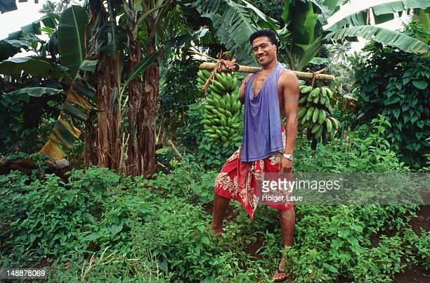Environmental-portrait of banana farmer.