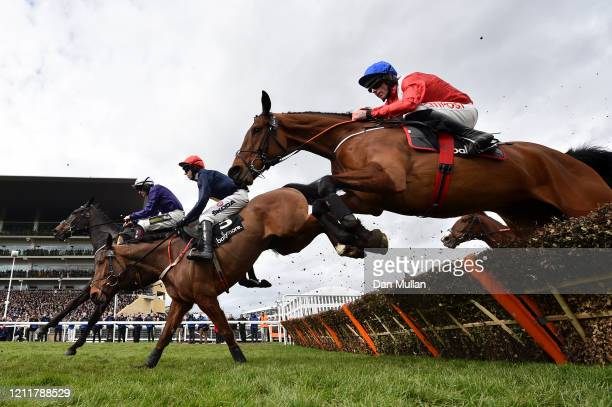 Envoi Allen ridden by Davy Russell on the way to winning the Ballymore Novices' Hurdle at Cheltenham Racecourse on March 11, 2020 in Cheltenham,...