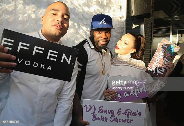Envy 50 Cent and Gia Casey attend a Surprise Baby Shower For Gia Casey Hosted By 50 Cent at STK on July 24 2016 in New York City
