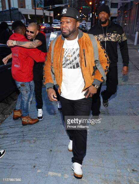 Envy and 50 Cent attend The Big Game Day Party Hosted by 50 Cent Kevin Hart at Oak on February 2 2019 in Atlanta Georgia