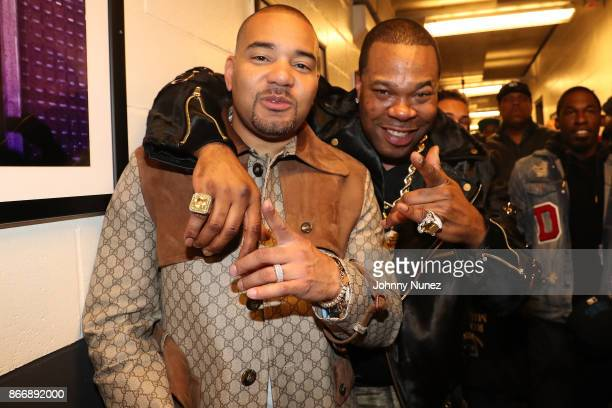DJ Envy and Busta Rhymes attend Power 1051's Powerhouse 2017 at Barclays Center of Brooklyn on October 26 2017 in New York City