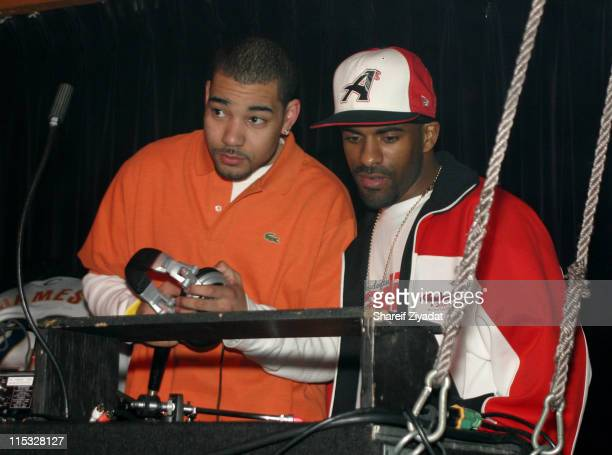 DJ Envy and DJ Clue during DJ Clue and DJ Envy Host Party at Club in Los Angeles California United States