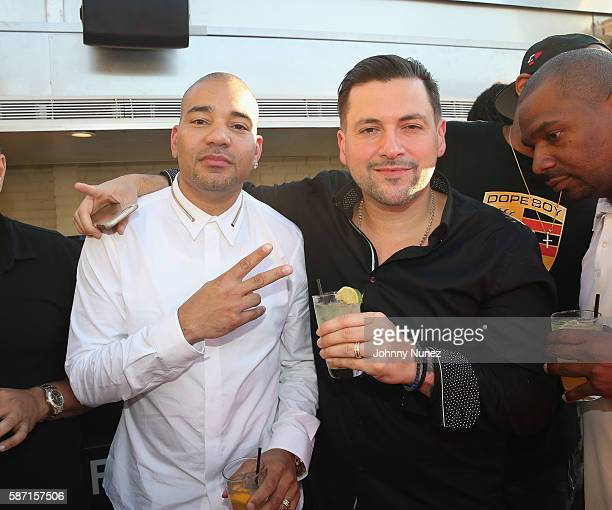 Envy and DJ Prostyle attend a Surprise Baby Shower For Gia Casey Hosted By 50 Cent at STK on July 24 2016 in New York City