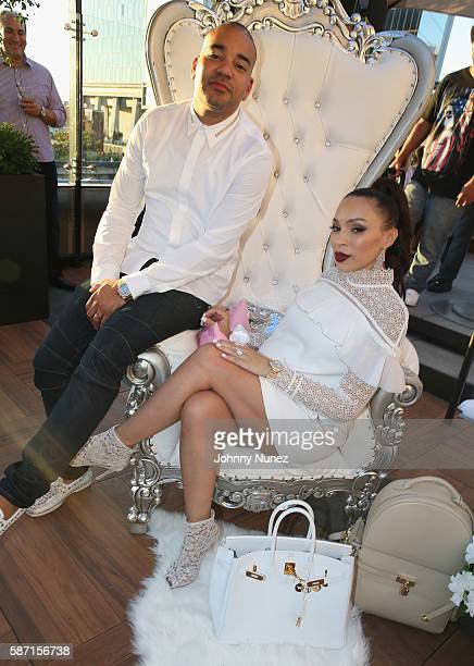 Envy and Gia Casey attend a Surprise Baby Shower For Gia Casey Hosted By 50 Cent at STK on July 24 2016 in New York City