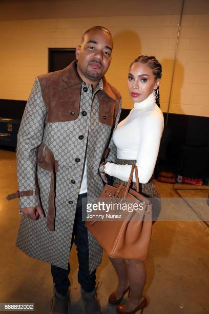 DJ Envy and Gia Casey attend Power 1051's Powerhouse 2017 at Barclays Center of Brooklyn on October 26 2017 in New York City