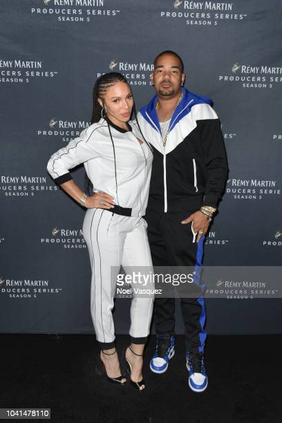 Envy and Gia Casey attend Remy Martin Crowns the Winner of Producers Series Season 5 with Big Sean Mustard on September 26 2018 in Los Angeles...