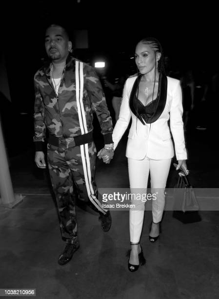 DJ Envy and Gia Casey attend the 2018 iHeartRadio Music Festival at TMobile Arena on September 22 2018 in Las Vegas Nevada
