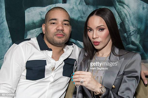 DJ Envy and Gia Casey attend the Forbes Dinner Honoring Jeezy at the Hunt Fish Club on January 5 2017 in New York City