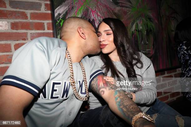 Envy and Gia Casey attend the New York Yankees Opening Day PostGame Party at Kola House on April 10 2017 in New York City