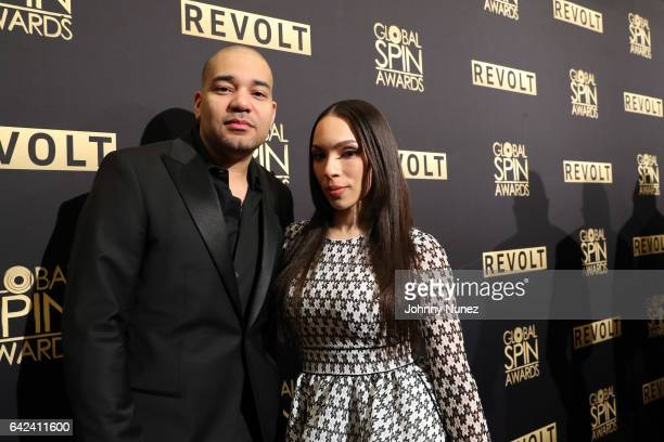 DJ Envy and his wife Gia Casey attend the 5th Annual Global Spin Awards at The Orpheum Theatre on February 16 2017 in New Orleans Louisiana