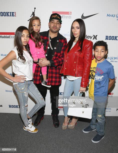 Envy and wife Gia Casey and family attend the Rookie USA Fashion Show during New York Fashion Week The Shows at Skylight Clarkson Sq on February 15...