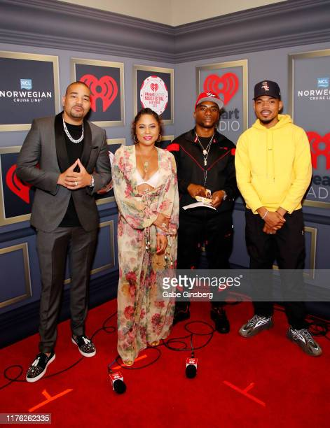DJ Envy Angela Yee Charlamagne tha God and Chance the Rapper attend the 2019 iHeartRadio Music Festival at TMobile Arena on September 21 2019 in Las...
