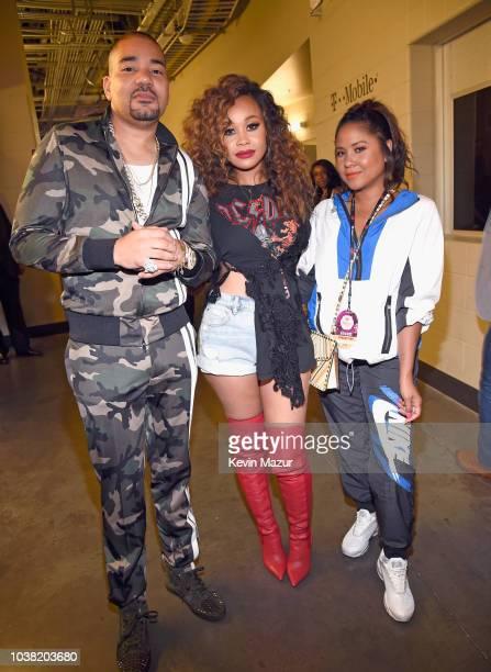 DJ Envy Evvie McKinney and Angela Yee attend the 2018 iHeartRadio Music Festival at TMobile Arena on September 22 2018 in Las Vegas Nevada