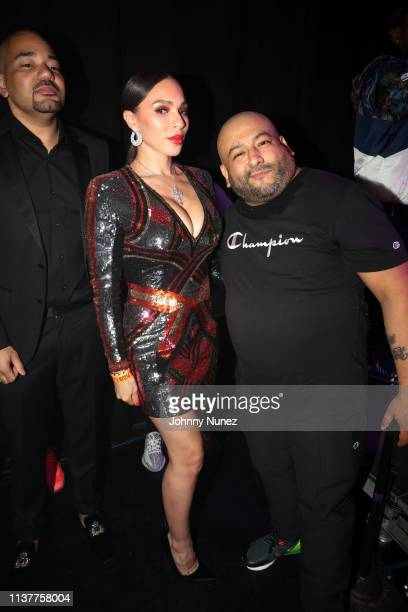 DJ Envy Gia Casey and Pretty Lou attend Pretty Lou's 3rd Annual Charity Concert With Fat Joe at Irving Plaza on April 16 2019 in New York City